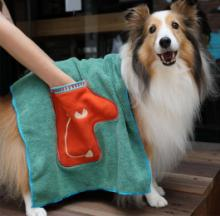 Microfiber Pet Drying Towel Fits Like A Gloves