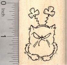 St. Patrick's Day Grumpy Cat Rubber Stamp