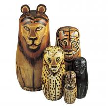 Wild Cats Matryoshka Dolls