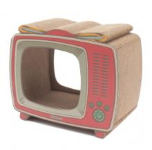 Retro TV Cat Scratching Post Keeps Sharp-Clawed Kitties Dialed In
