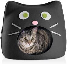 Furhaven's Felt House Cat Shape w/ Face Décor