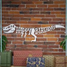 Dinosaur Happy Birthday Banner