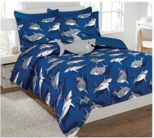 Shark Comforter and Sheet Set