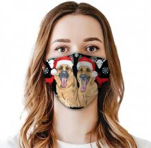 Christmas Dog Face Mask