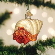 Christmas Hermit Crab Ornament