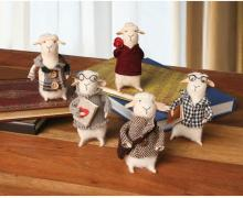 Felted Wool Sheep Figures