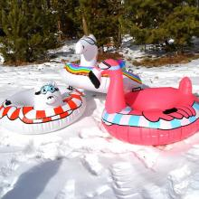 Winter Inflatable Sled Animals