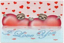 Valentine's Day Sloths Jigsaw Puzzle