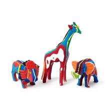 Reclaimed Flip Flop Safari Animal Set