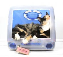 Upcycled Apple iMac Pet Bed Makes Your Cat A Screen Star